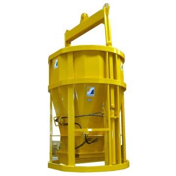 Benne à accumulation hydraulique ronde